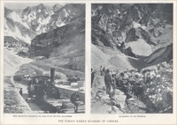 "Railway leading to the foot of the quarries & Quarries at La Piastra (""Scientific American,"" 1902)"