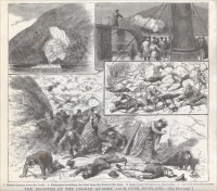 "Picture from ""Disaster at The Crarae Quarries,"" Scotland, 1886"