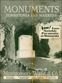 "Montgomery Ward & Co. ""Monuments, Tombstones and Markers Catalog,"" 1929"