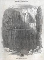 "The Fitzroy Slate Quarry in North Wale, , in ""The Illustrated London News,"" April 17, 1858."