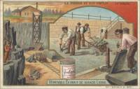 The Stone and Its Use - Basalt, French trade card (front)