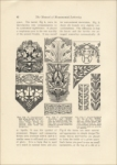 Diagrams of conventionalized grape design, acanthus leaf, & laurel designs, The Manual of Monumental Lettering, Monumental News, early 1900s