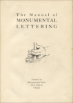 Title page of The Manual of Monumental Lettering, Monumental News, early 1900s