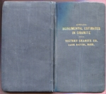 Front & back covers of the booklet, Monumental Estimates in Granite, by the Victory Granite Co. of Sauk Rapids, Minnesota