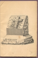 "#CC1252 cemetery monument in ""New Style Rock Work"" cemetery monumental catalog, Charles Clements, Wholesale Granite Dealer, Boston Mass., 1890s"