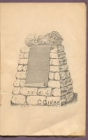 "#CC1265 cemetery monument in ""New Style Rock Work"" cemetery monumental catalog, Charles Clements, Wholesale Granite Dealer, Boston Mass., 1890s"