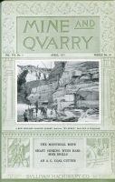 "Front cover of the April 1913 issue of ""Mine and Quarry,"" Sullivan Machinery Co., Chicago, Illinois"