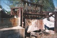 Quarry / stone saw in Bates quarry in 1993, Madera County, California