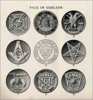 Page of Emblems from Lasting Memorials of Artistic Beauty, Design Book No. 108, 1920s