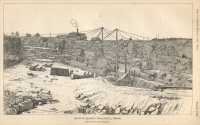 """Granite Quarry, Hallowell, Maine. Drawn from a photograph."" (from ""The Collection of Building and Ornamental Stones in the U. S. National Museum: A Hand-book,"" 1866, pp 416"