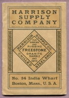 Front cover of the Harrison Supply Company Catalog, Boston, Massachusetts, 1904