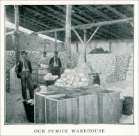 """Our Pumice Warehouse"" (From the Harrison Supply Company Catalog, Boston, Massachusetts, 1904)"