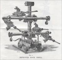 Fig 3. Mr. McCulloch's tunnel car mounted with four 3 1/2 inch Rio Tinto drills (1893)