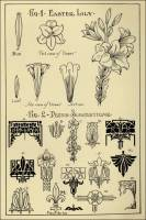 "Lily Patterns in ""Monumental Drawing and Lettering: The Lily in Applied Ornament"" (1926)"