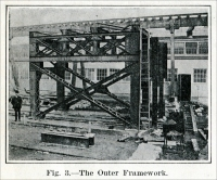 """Fig. 3. The Outer Framework."" From ""A Machine for Sawing Granite,"" ""Scientific American Supplement,"" July 27, 1912, pp. 57-58"