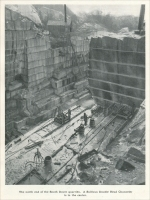 """The north end of the South Dover quarries. A Sullivan double head channeler is in the center. (""The Marble Industry in New York State,"" Mine and Quarry, February 1907, pp. 98)"