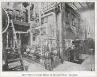 """Boiler Plant in Power Station of Cleveland Stone Company"" (circa 1904)"