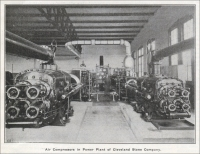 """Air Compressors in Power Plant of Cleveland Stone Company"""