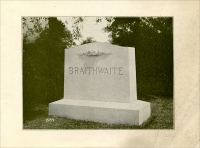 One of the monuments displayed in the booklet, Northern Illinois Granite Co., Makers of Monuments of Quality, Kankakee, Illinois