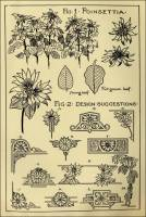 "Poinsettia Patterns in ""Monumental Drawing and Lettering: The Poinsettia in Applied Ornament"" (1926)"