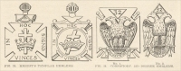 """Knights Templar Emblems"" & ""Consistory 32nd Degree Emblems,"" from The Manual of Monumental Lettering, early 1900s"