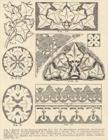 Ivy patterns/forms, from The Manual of Monumental Lettering, early 1900s
