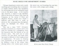 """Rock Drills for Department Stores,"" from ""Mine and Quarry,"" Sullivan Machinery Co., Chicago, Illinois, Jan. 1913, pp. 725."