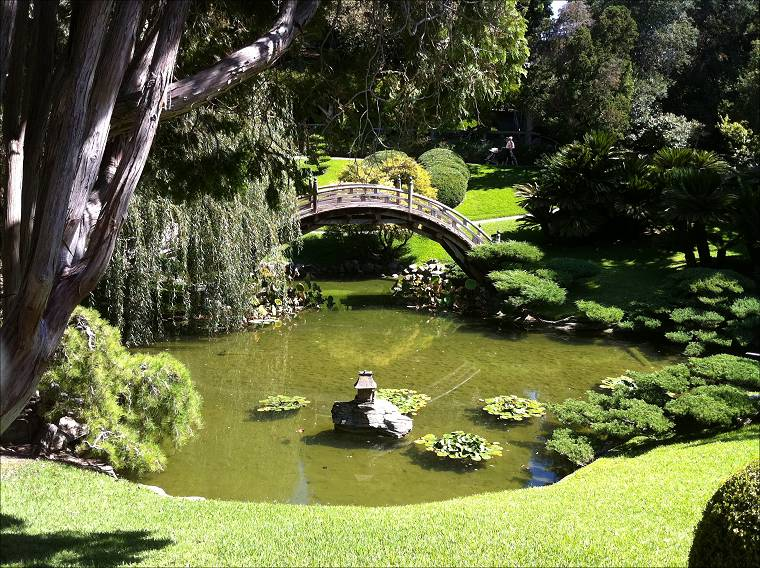 View Of Portion Of The Japanese Garden In The Huntington Botanical Garden,  San Marino, ...