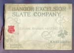 Front cover of the booklet, Bangor Excelsior Slate Company Descriptive Catalogue, 1890s