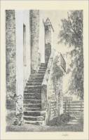 """Mission San Gabriel Stairs,"" from ""The Missions of California,"" by E.L. Smyth, 1899"