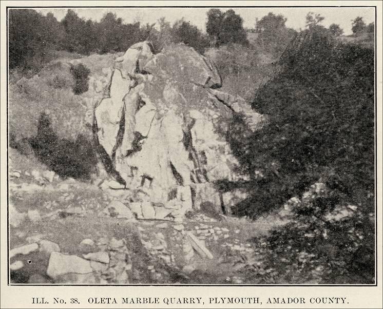 Amador County List Of Stone Quarries Etc