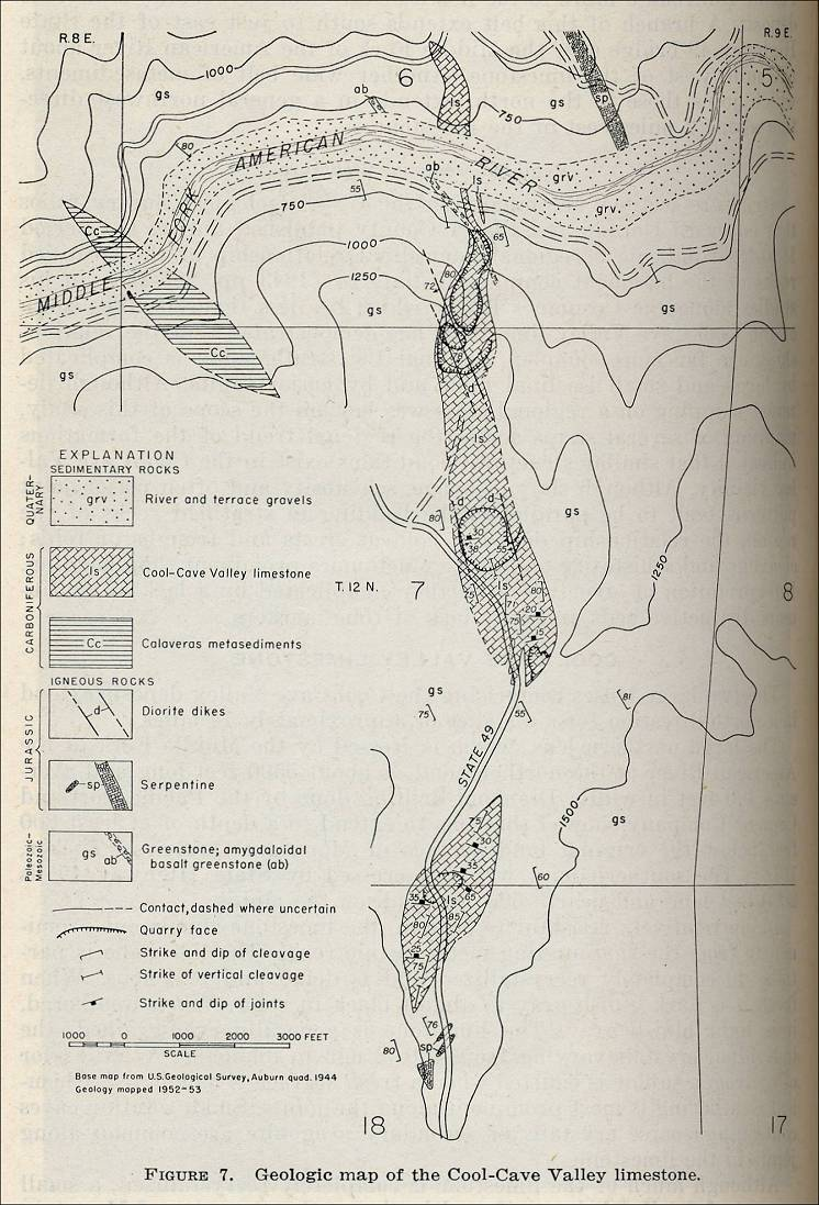geologic map of the cool cave valley limestone