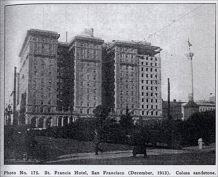 St Francis Hotel San Francisco December 1913