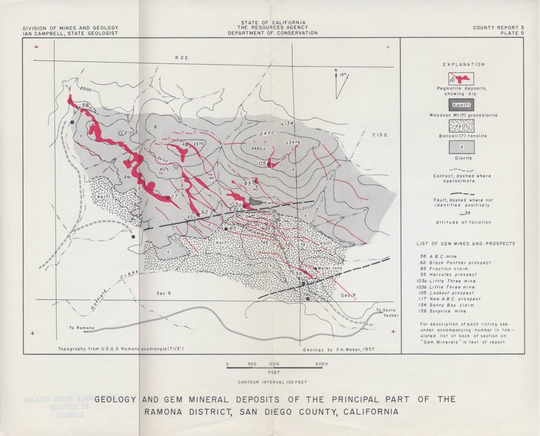 San Diego County Maps - California map ramona