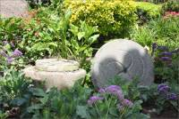 Grindstones in the San Diego Mission Garden, San Diego, CA