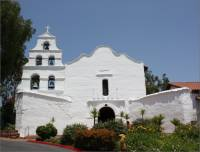 View of the front of Mission Basilica San Diego de Alcala, San Diego, CA