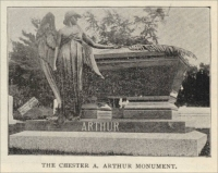 "The Chester A. Arthur memorial in the Albany Rural Cemetery, Albany, New York (1896, ""The Monumental News"")"