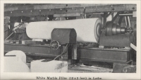 """White marble pillar (12 x 3 feet) in lathe,"" from Colorado Slate, the Colorado Slate Company, 1908"