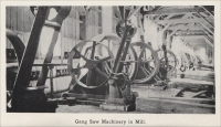 """Gang saw machinery in mill"" − from Colorado Slate, the Colorado Slate Company, 1908"