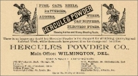 Hercules Powder Co., Wilmington, Delaware, advertisement in Stone: An Illustrated Magazine, November, 1895, pp. xxix