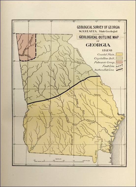 Geologic Map Of Georgia.Geology Resources