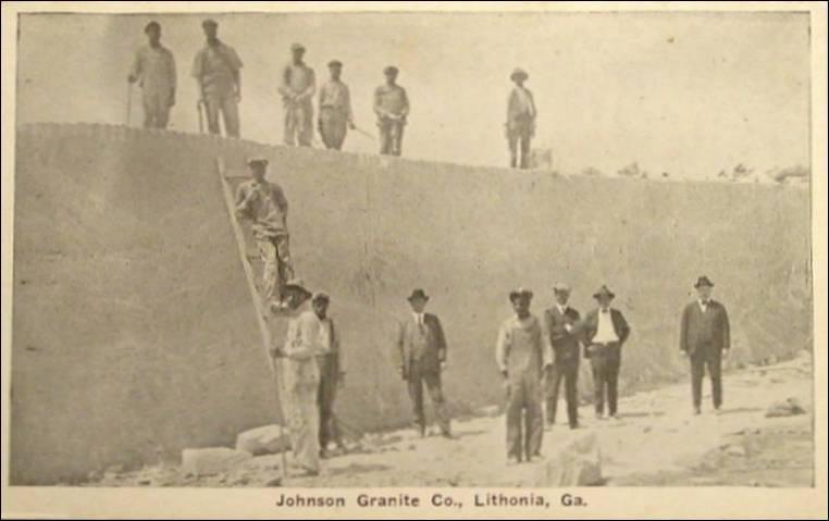 Granite Company : Lithonia, Georgia - the Johnson Granite Co. (2 postcard photographs ...