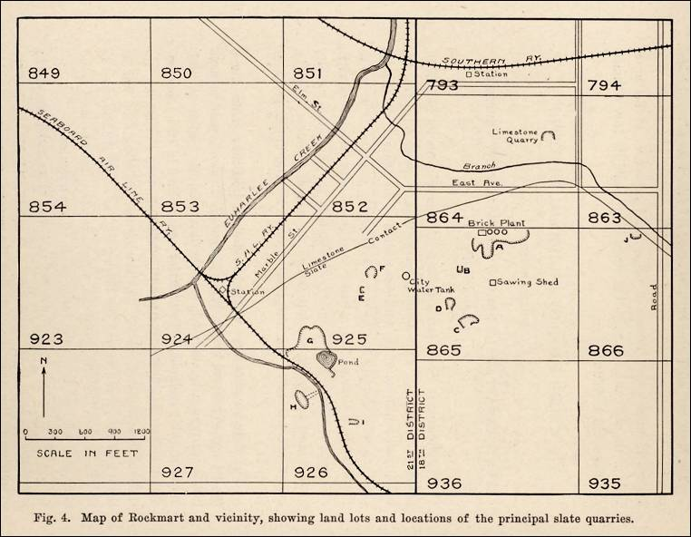 List Of Quarries In Georgia Quarry Links Photographs And Articles - Georgia map 1918