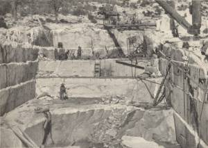 A corner of Arizona Marble Co.'s Quarry