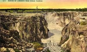 Mining of Limerock Near Ocala, Florida