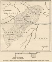 Map of Oglesby-Lexington and Elberton-Echols Mill granite areas
