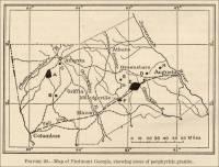 Map Piedmont, Georgia, showing areas of porphyritic granite