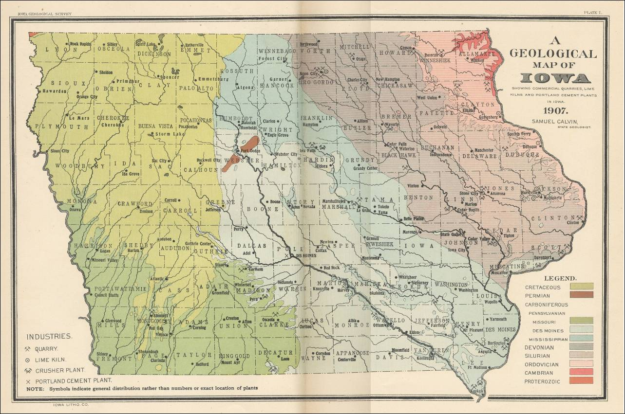 Iowa - Early us geological mapping