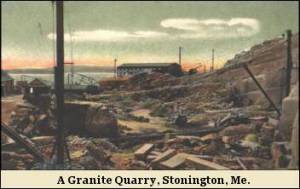 A Granite Quarry, Stonington Me.
