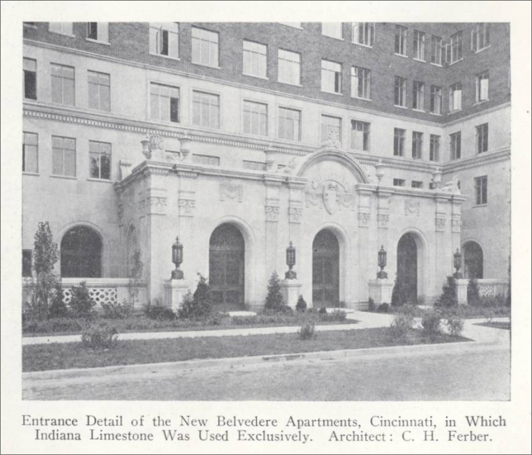 Belvedere Apartments: Structures And Monuments In Which Indiana Stone Was Used